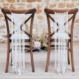Stoeldecoratie macrame A Touch of Pampas (2st) Ginger Ray