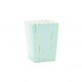 Popcorn bekers Stripes lichtblauw-goud (6st)