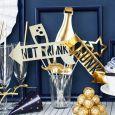 Party Props goudfolie (8st) Golden Grid