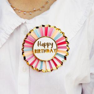 Rozet happy birthday roze Talking Tables