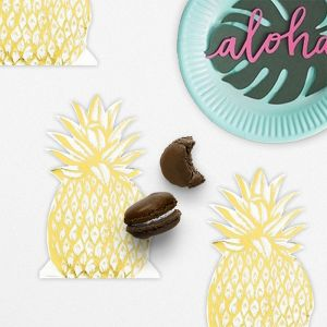 Modern Metallics ananas servetten (12st) Talking Tables