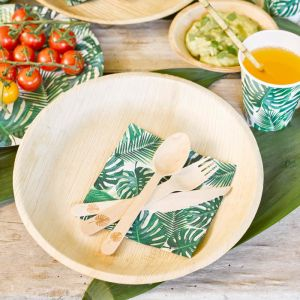 Servetten palmbladeren Tropical Fiesta (20st) Talking Tables
