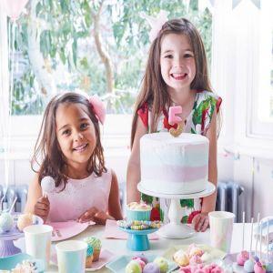 Ballonbordjes happy birthday roze (12st) Talking Tables