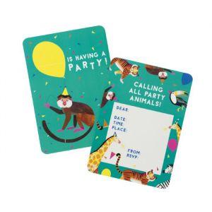 Party Animals uitnodigingen (8st) Talking Tables