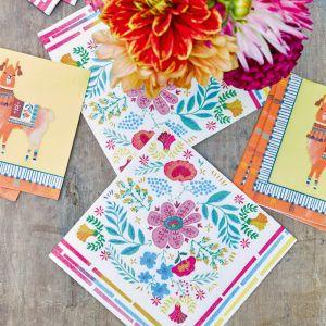 Boho bloemenprint servetten (20st) Talking Tables