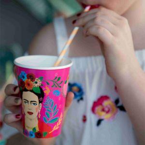 Boho bekers groot Frida Kahlo (8st) Talking Tables