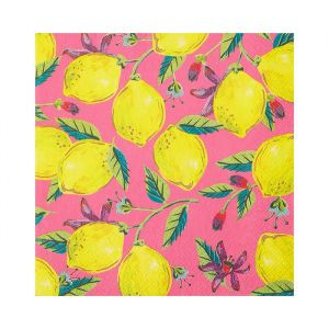 Servetten citroenen Boho (20st) Talking Tables