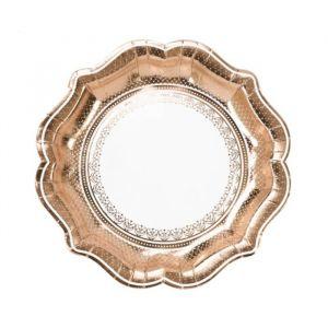 Bordjes roségoud (12st) Party Porcelain Talking Tables