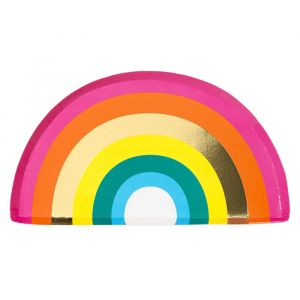 Bordjes regenboog (12st) Birthday brights Talking Tables