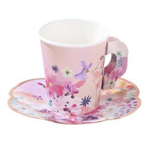 Theekop- en schotel set (12st) Blossom Girls Talking Tables