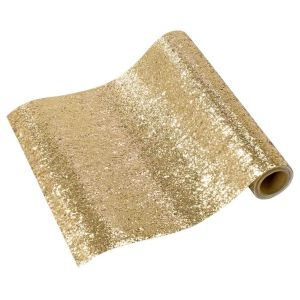 Tafelloper glitter goud (1,8m) Talking Tables
