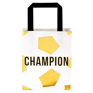 Uitdeeltasjes Voetbal Champion (6st) Talking Tables