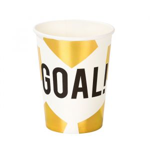 Bekertjes Voetbal Goal goud (12st) Talking Tables