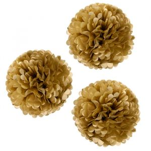 Pompons large set goud (3st) Talking Tables
