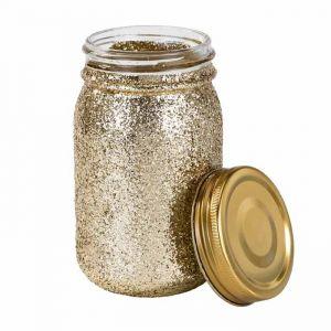 Mason jar glitter goud Talking Tables