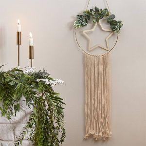 Houten decoratiehanger Star Nordic Noel Ginger Ray