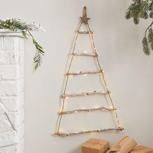 Muurdecoratie kerstboom met lichtjes Nordic Noel Ginger Ray