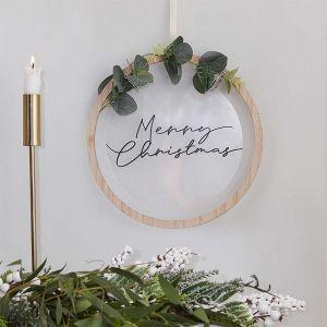 Decoratiehanger Merry Christmas acryl Nordic Noel Ginger Ray