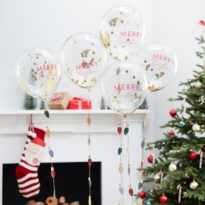 Confettiballonnen Merry Christmas Merry Everything (5st)
