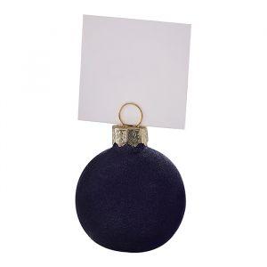 Plaatskaarthouders kerstballen Navy Luxe (6st) Ginger Ray