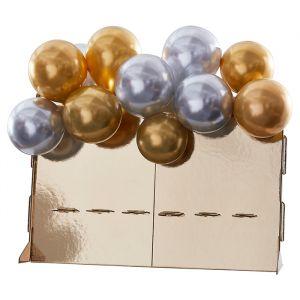 Champagnedisplay goud met ballonnen Navy Luxe Ginger Ray