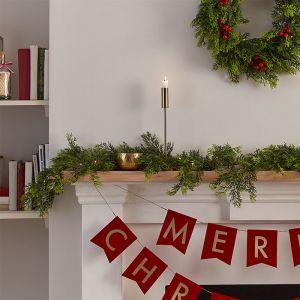 Decoratiehanger Merry Christmas goud Nordic Noel Ginger Ray
