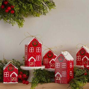 Adventskalender kersthuisjes Deck The Halls Ginger Ray