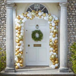 Ballonnenboog deur goud Deck The Halls Ginger Ray