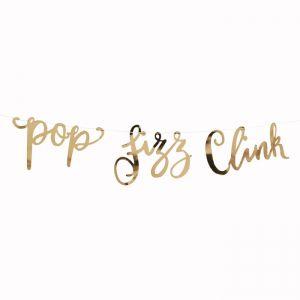 Slinger Pop Fizz Clink goud Gold Metallic Star