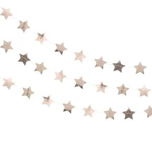 Sterslinger roségoud (5m) Rose Gold Metallic Star