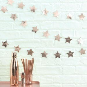 Sterslinger roségoud (5m) Rose Gold Metallic Star Ginger Ray