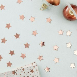 Confetti sterren roségoud Rose Gold Metallic Star Ginger Ray