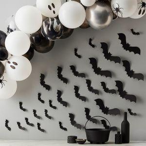Decoratie vleermuizen zwart (30st) Brewing Party Ginger Ray