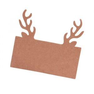 Plaatskaartjes rendierengewei (10st) Rustic Christmas