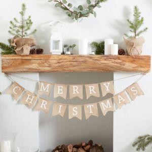 Juten slinger Merry Christmas Rustic Christmas Ginger Ray
