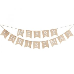 Juten slinger Merry Christmas Rustic Christmas