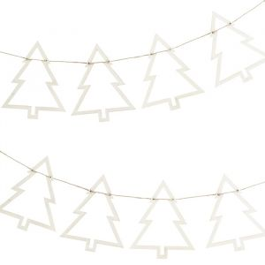 Houten slinger kerstbomen Rustic Christmas