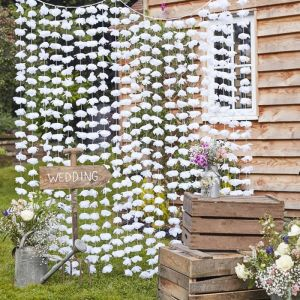 Backdrop bloemen wit Rustic Country