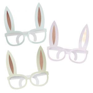 Brillen roségoud (8st) Hoppy Easter Ginger Ray