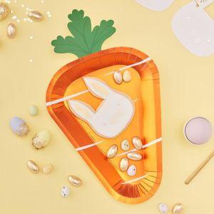 Wortel bordjes Carrot Crunch (8 st) Ginger Ray