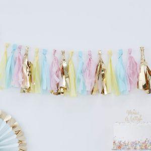 Tasselslinger pastel-goud Pick & Mix Pastel Ginger Ray
