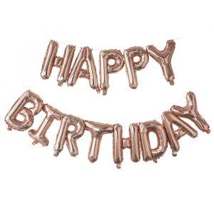 Folieballonslinger Happy Birthday Pick & Mix Rose Gold