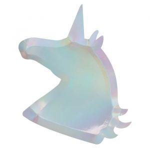 Bordjes Unicorn holografisch (8st) Make A Wish Unicorn