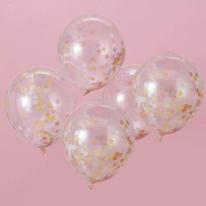 Confetti ballonnen sterren (5st) Make A Wish Unicorn