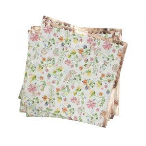 Servetten bloemen roségoud (16st) Ditsy Floral Ginger Ray
