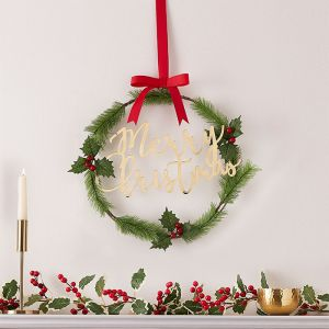 Kerstkrans Merry Christmas Traditional Touches Ginger Ray