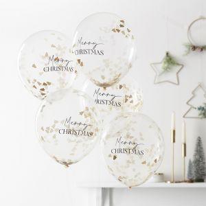 Confetti ballonnen Merry Christmas (5st) A Touch Of Sparkle