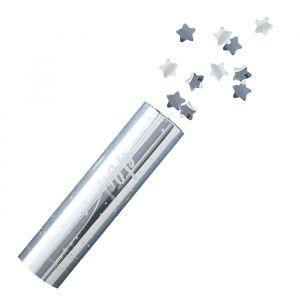 Confettikanon Stars zilver Silver Christmas