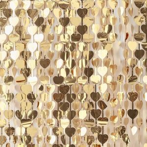 Backdrop hartjes Gold Wedding Ginger Ray