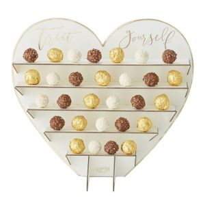 Bonbon standaard hart Gold Wedding Ginger Ray